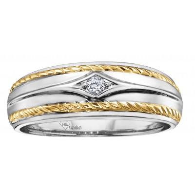 Jonc or blanc et jaune, diamant