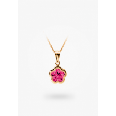 Pendentif BFlower or jaune
