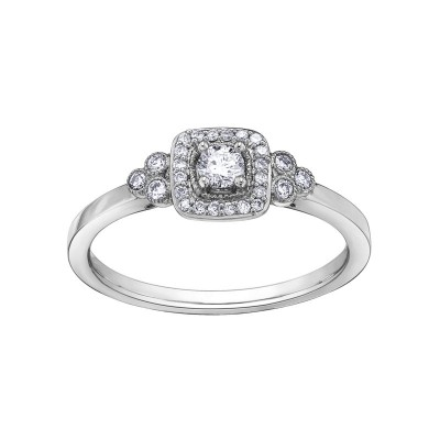 Bague or blanc, diamants