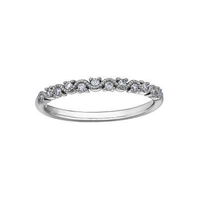 Bague Chi Chi or blanc, diamants
