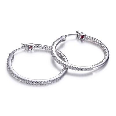 Boucles d'oreilles ELLE argent, anneau